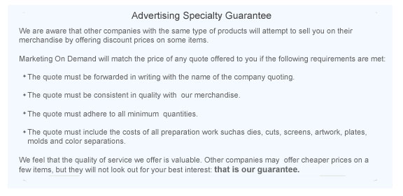 Advertising Specialties Guarantee and Promotional Product Guarantee Littleton, CO